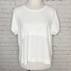 Lululemon Final Lap Short Sleeve Top White Size 12